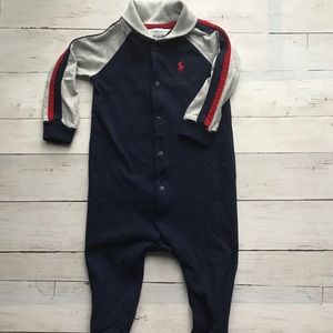 Ralph Lauren Baby Boy One Piece Footed Outfit